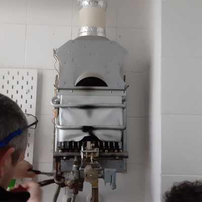 Desmontaje antiguo calentador