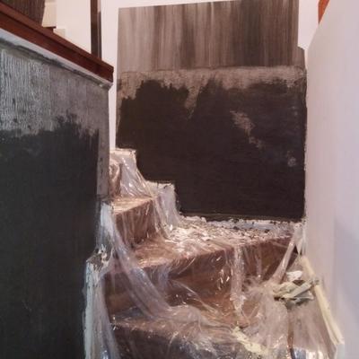 Detalle tratamiento en escalera