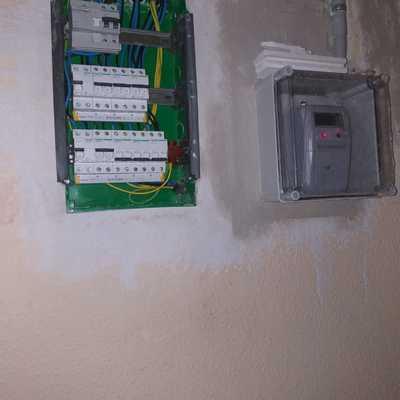 Reforma de instalación eléctrica con cuadro central.