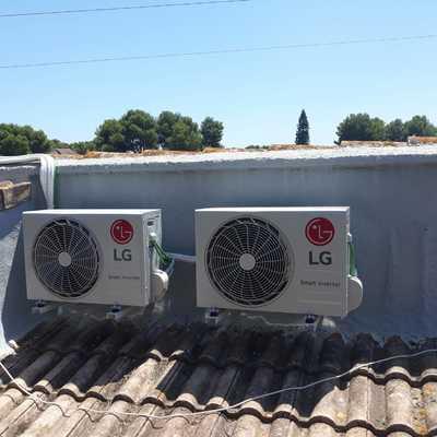 Instlación de aire acondicionado tipo split