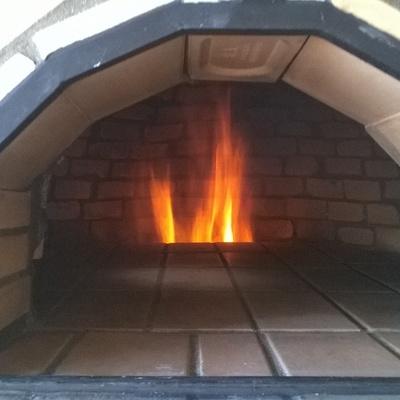 horno de leña Encendido