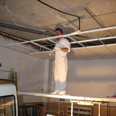 yo mismo colocaldo techo desmontable