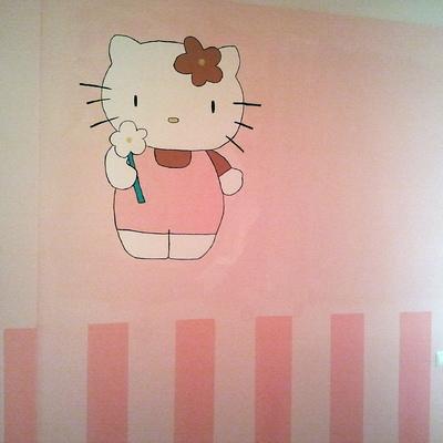 zocalo pintado y hello kitty pintada