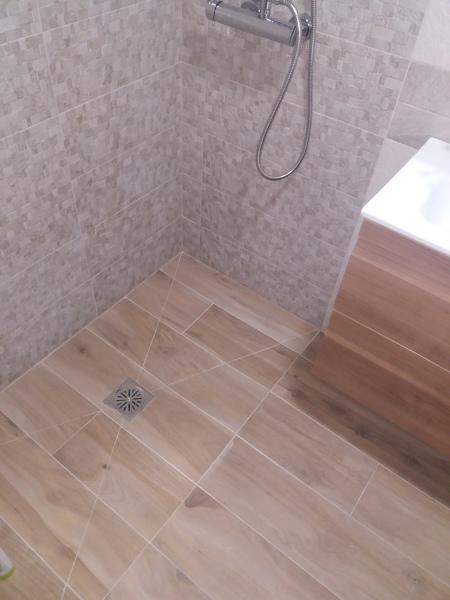 Plato de ducha continuo