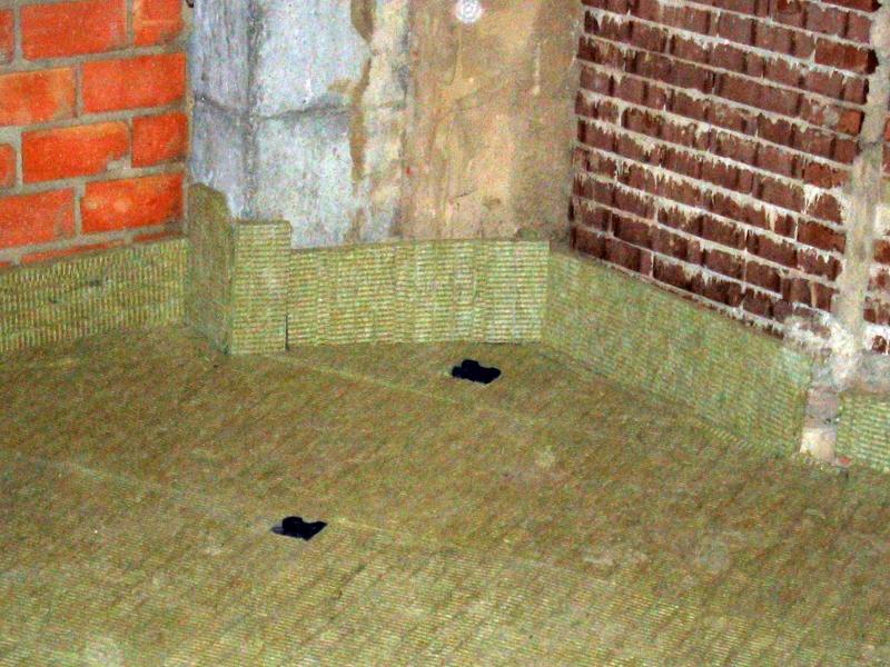 Foto aislamiento ac stico con recrecido en suelo de for Aislamiento acustico suelo