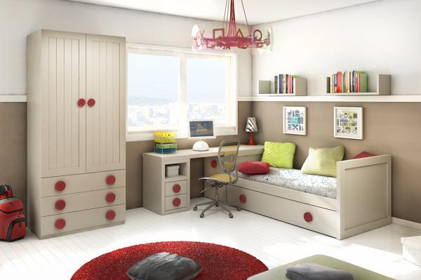 Foto amueblamiento de dormitorio juvenil de - Dormitorios juveniles murcia ...