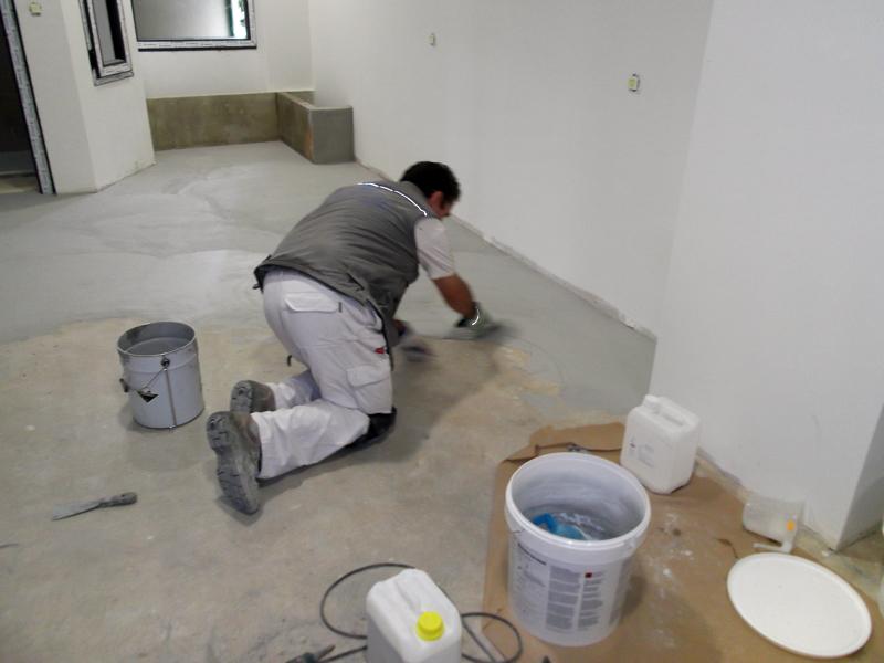 Foto aplicacion de cemento pulido de proyectos 151706 for Microcemento banos precio