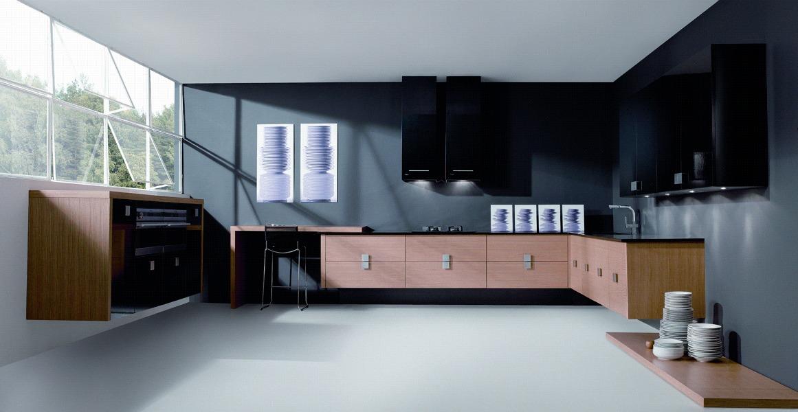 Foto aran rechapado ocre combinado con aran negro alto for Patas muebles cocina