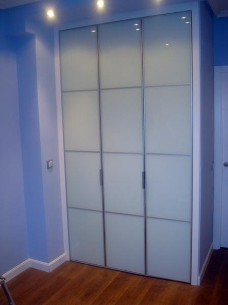 Armario Baño Blanco Lacado:Foto: Armario con 3 Puertas Abatibles Cristal Lacado Blanco con