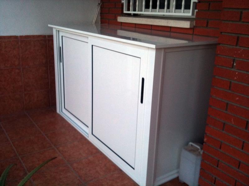Foto armarios de aluminio para balcones o terrazas de for Armarios para terrazas