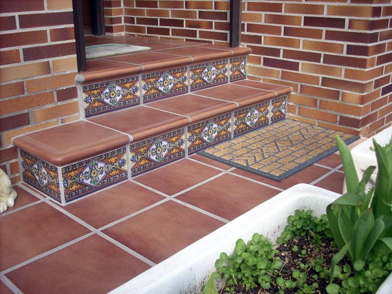 Foto baldosas de gres en suelos de terrazas de gisec for Baldosas para terrazas