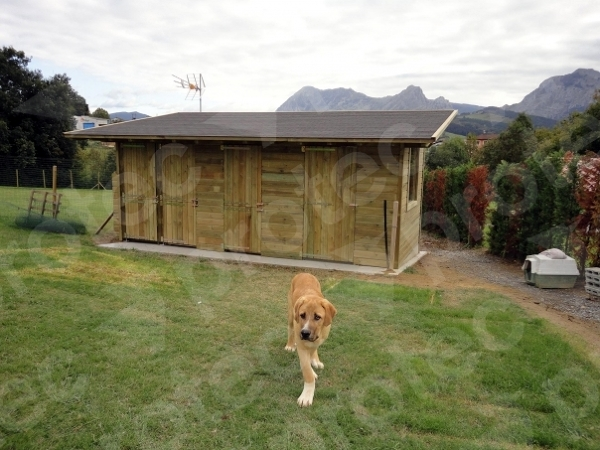 Foto casetas a medida para perros de protec 188667 for Casetas para perros aki