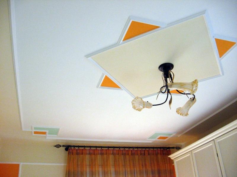 Foto centro techo en moldura y pintura de dc decoraciones for Decoraciones para el techo de mi cuarto