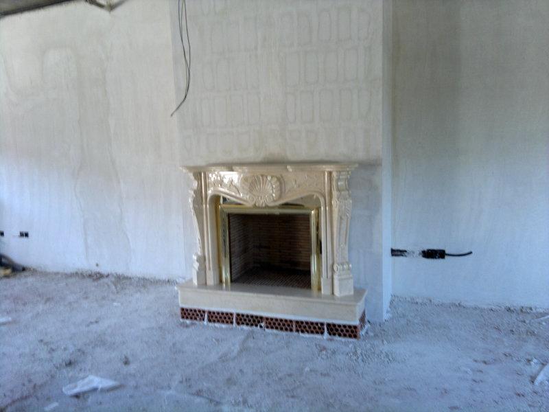 Foto chimenea modelo r 19 en m rmol crema marfil de - Marco de chimenea ...
