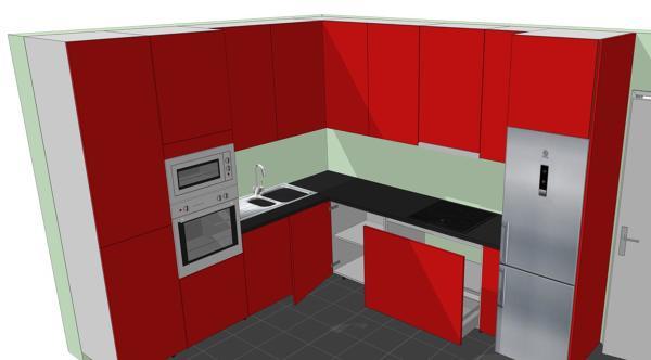 Foto: Diseño 3D de Cocinas de Carpinteria Rafael Relaño ...