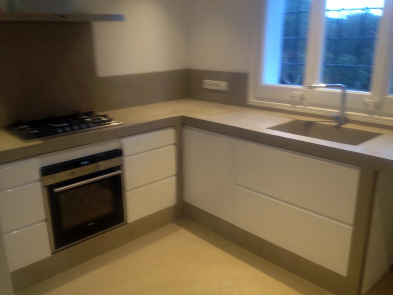 Foto cocina cemento pulido de betonisart 391409 for Cocinas de concreto
