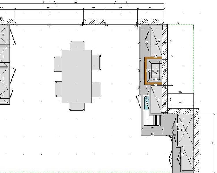 Foto cocina rustica plano vista planta de aludama 173707 for Planos para disenar cocinas