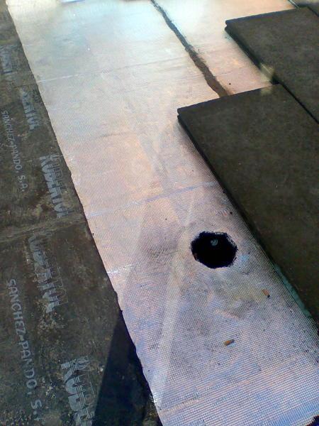 Foto colocacion de tela asfaltica con doble capa normal y for Precio mano de obra colocacion tela asfaltica