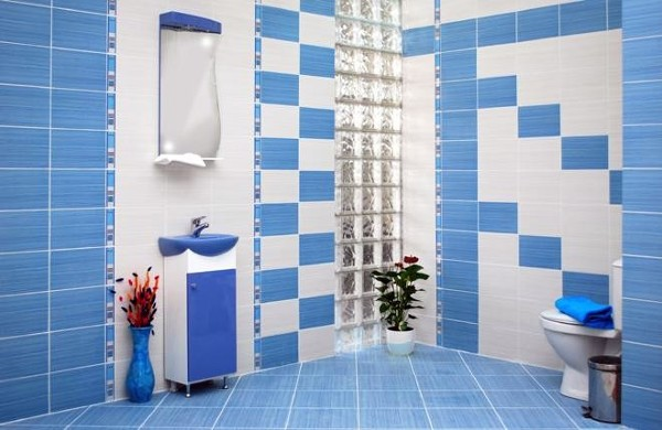 Foto combinacion de azulejo con paves de reformas miguel - Baldosas gresite para banos ...