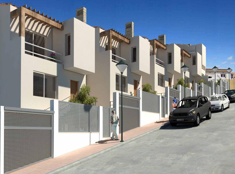 Foto conjunto 5 viviendas unifamiliares en el puerto de - Fachadas viviendas unifamiliares ...