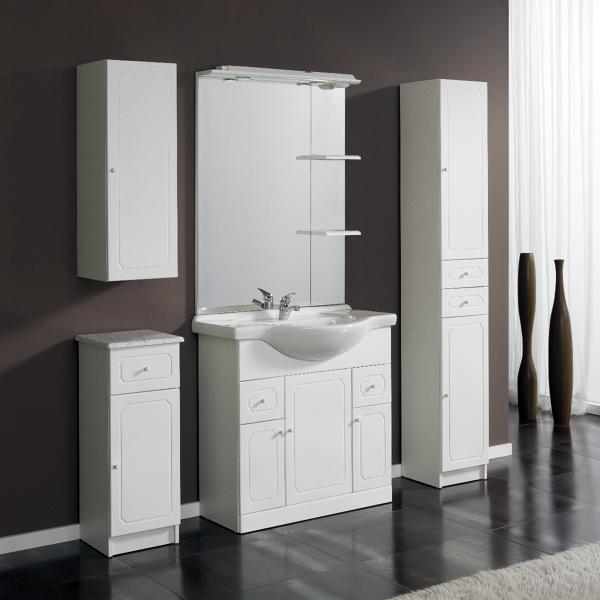 Foto conjunto mueble de ba o adelaida 80 cm blanco for Mueble bano rustico blanco