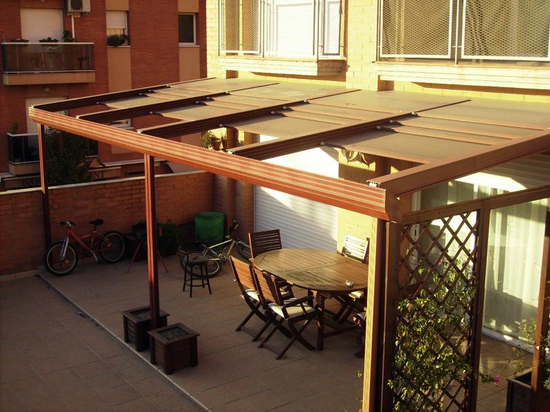 Foto cubierta de terraza de a t m alumitechos moviles - Cubiertas para terrazas ...