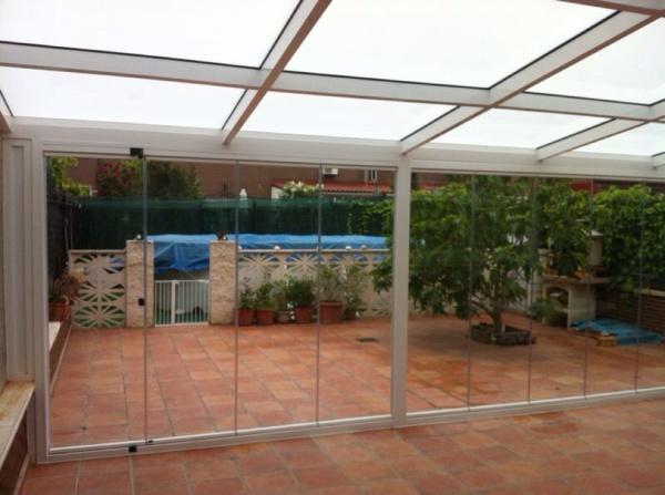 Foto cubierta fija de vidrio frente cortina de cristal de mupalum s l l 553086 habitissimo - Cubierta de cristal ...
