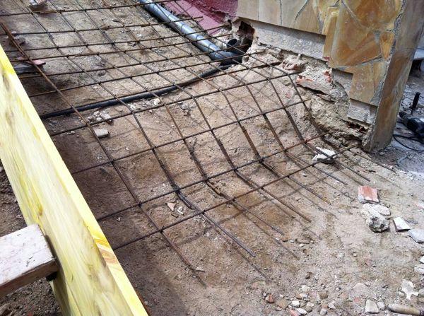 Foto detalle armado escalera de construcciones cano for Construccion de escaleras de concreto armado