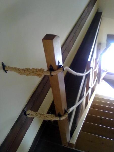 Foto detalle atado cuerda escalera fabricada por la - Escaleras de cuerda ...