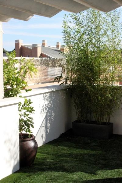 Foto dise o de jard n en tico jard n urbano madrid - Jardines en aticos ...