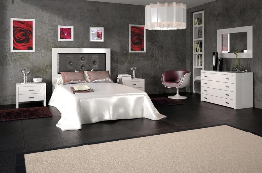 Foto: Dormitorio Marsella con Cabecero de Cam de Madera y Tapizado ...