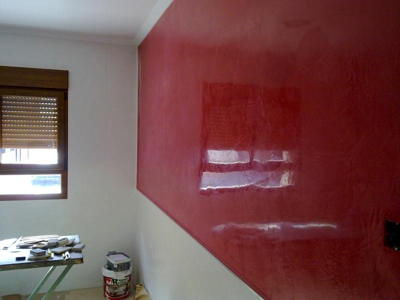 Foto estuco rojo en cocina de decoraciones 2010 s l pintura en general y decorativa 189516 - Cocinas con estuco ...