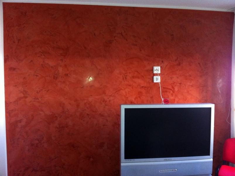 Foto estuco veneciano color teja de pintores asociados - Estuco veneciano colores ...