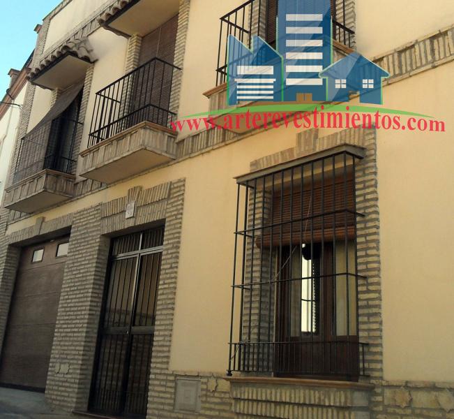 Foto fachada de mortero monocapa de arte revestimientos - Mortero para fachadas ...