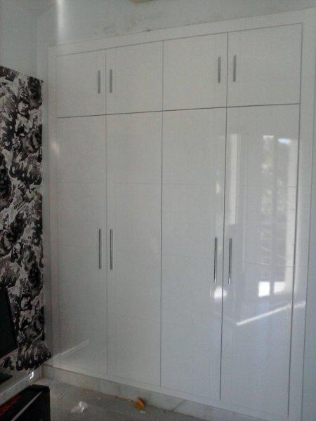 Foto frente de armario blanco alto brillo de cocinas - Frentes de armarios de cocina ...