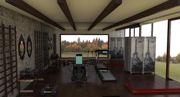 Foto gimnasio r stico de salvans interiores 548746 for Gimnasio illes
