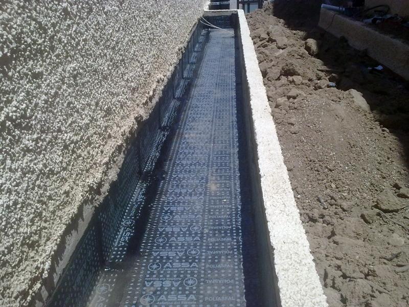 Foto impermeabilizacion de jardineras con tela asfaltica de construcciones y reformas rasemur - Impermeabilizacion de tejados ...