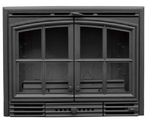 Foto insert 2 puertas para chimenea de chimeneas belloren for Puertas para chimeneas
