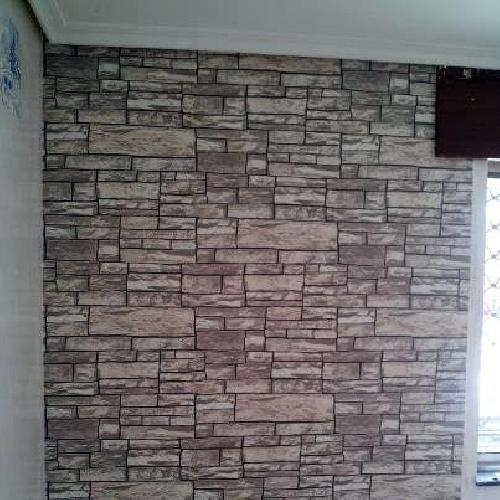 Foto instalaci n de papel vinilico de empapelados - Papel vinilico pared ...
