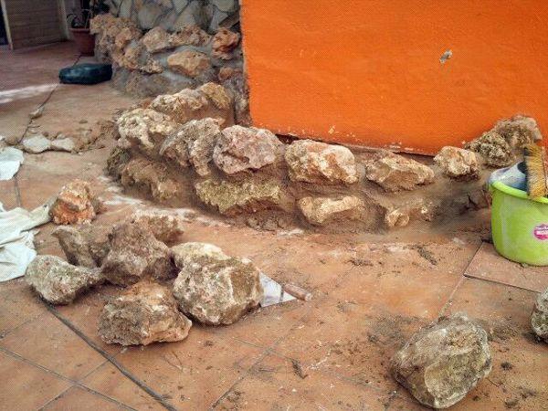 Foto jardinera de piedra de reformas dani 338950 - Piedras para jardineras ...
