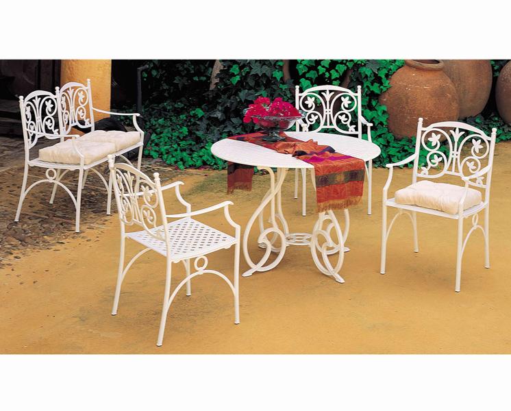 Foto juego de jardin con mesa sillas y sillon de cosmobili 193448 habitissimo for Juego de jardin fundicion aluminio