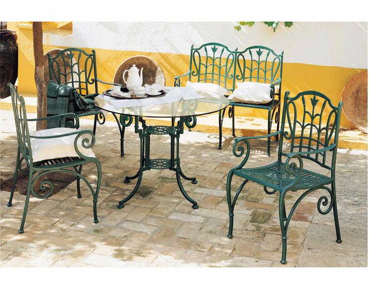 Foto juego de jard n mesa con sillas y sillon de for Ofertas mesas y sillas de jardin