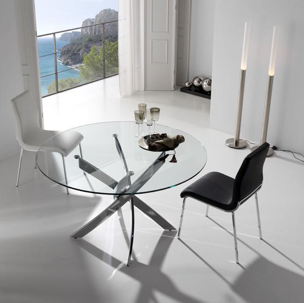 Foto: Mesa Comedor Redonda Cristal de Muebles Paco Caballero #386544 ...