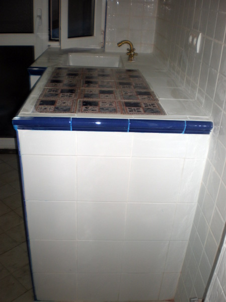 Foto Meseta De Cocina Con Azulejos R Sticos De Corema