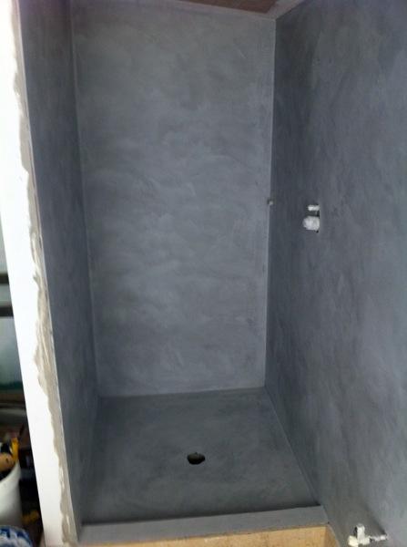 Foto microcemento cabina de ducha de area 3 estudio de for Microcemento banos precio