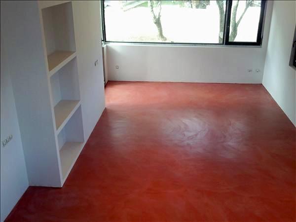 Foto microcemento en color rojo de microreformas 277633 - Cocinas con estuco ...