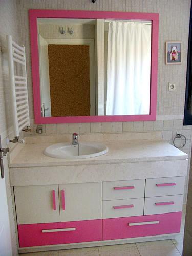 muebles bao rusticos gironafoto mueble bajo encimera blanco y rosa de muebles de bao jara muebles bao rusticos girona