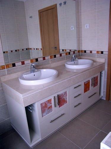 Muebles De Bano Naranja.Foto Mueble Bajo Encimera Con Cristales Fusing Naranja De Muebles