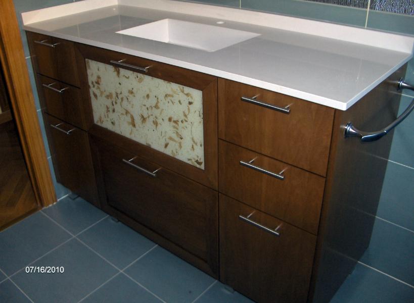 Foto mueble de ba o a medida madera de muejosala 134077 for Medidas mueble bano