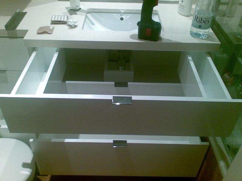 Armario Baño Blanco Lacado:Foto: Muebles de Baño Lacado en Blanco Brillo de José María Ruiz